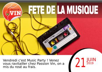 La fête de la musique avec Passion Vin