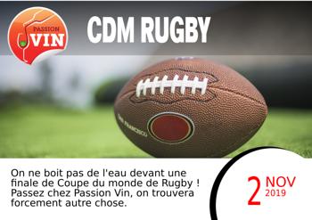 Coupe du Monde de Rugby - 2 novembre