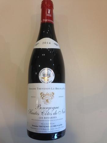 Dans votre cave à vin: Le Bourgogne Hautes Côtes de Nuits rouge LES RENARDES