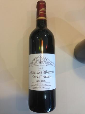 Dans votre cave à vin: Le Médoc Cuvée l''Audace