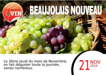 21 novembre - Dégustation chez Passion Vin