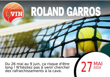Roland Garros avec Passion Vin